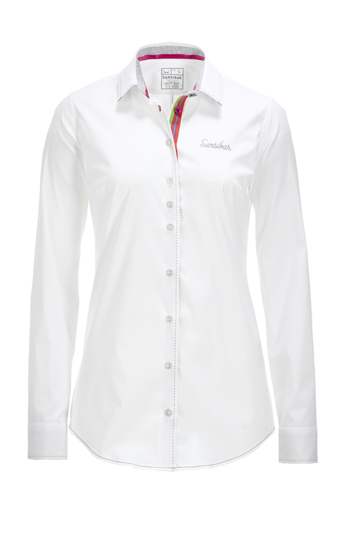 Damen Bluse TAPE , white, XS