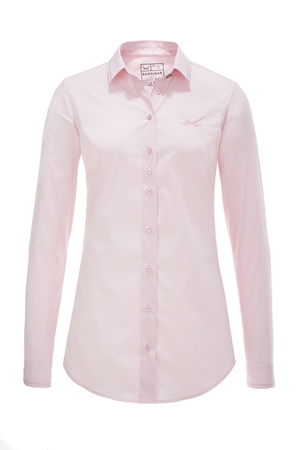Damen Bluse FANCY STITCH , light rose, S
