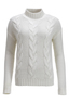 FTC Damen Zopfpullover HS1099 , white, XL