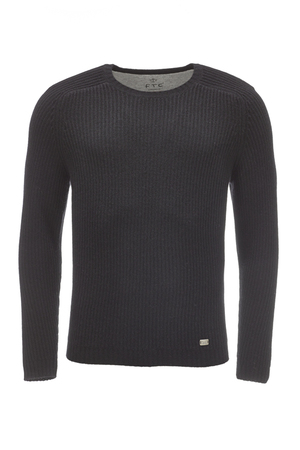 FTC Herren Pullover Rippe HS2101 , natural, S