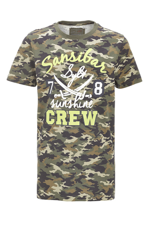Boys T-Shirt Crews , Camouflage light, 92/98