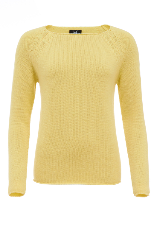 Damen Pullover Basic Art 904 , Gelb, XXL