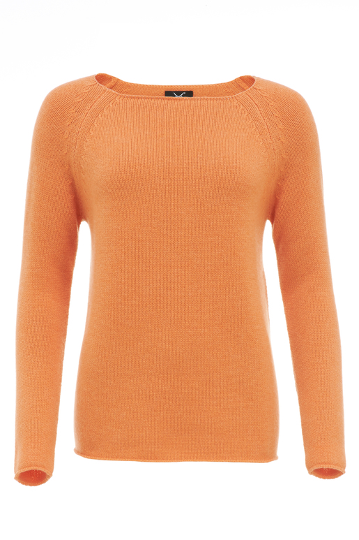 Damen Pullover Basic Art 904 , Orange, XS