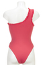 One Shoulder Swimsuit , coral, L
