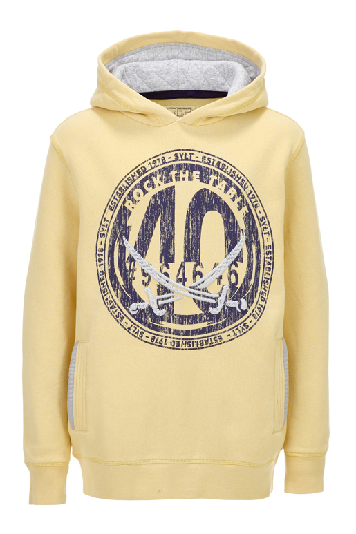 Boys Hoody 40 , pale banana, 116/122