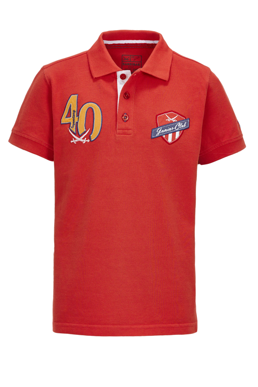 Kinder Poloshirt TAILOR , red, 92/98