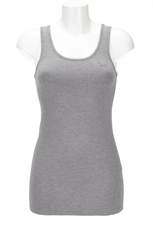 Damen Top STRETCH , greymelange, XXS