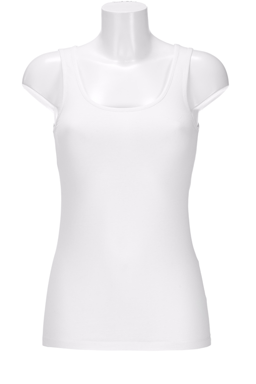 Damen Top STRETCH , white, L