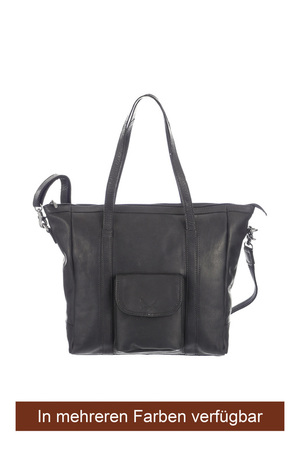 SB-1064 Shopper Henkeltasche , one size, darkbrown