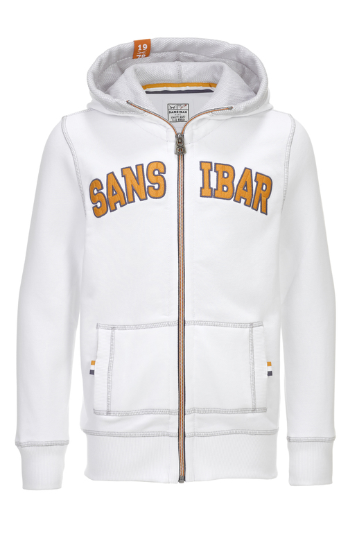 Kinder Sweatjacke Sansibar , white, 116/122