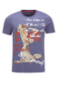 Herren T-Shirt Vintage Pin Up , dark blue, S