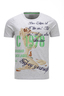 Herren T-Shirt Vintage Pin Up , silvermelange, XS