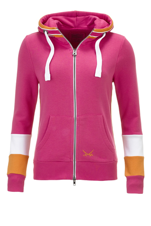 "Damen Sweatjacke ""Keep on Movin"" , fuchsia, XXS"