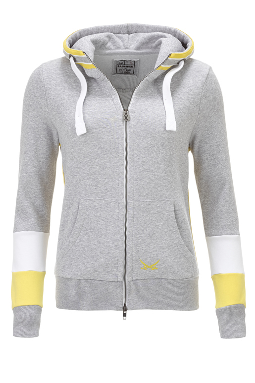 "Damen Sweatjacke ""Keep on Movin"" , silvermelange, XXS"