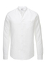 Herren Hemd Leinen Stand up Collar , white, S