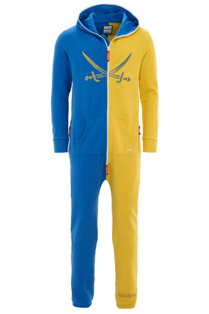 Unisex Jumpsuit , Blue/Yellow, M