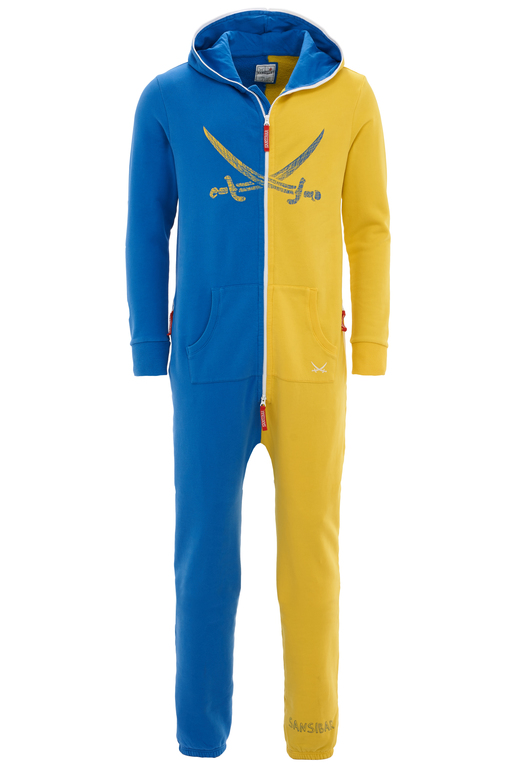 Unisex Jumpsuit , Blue/Yellow, S