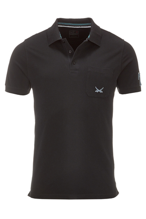 Herren Poloshirt QUIET 78 , black, XL