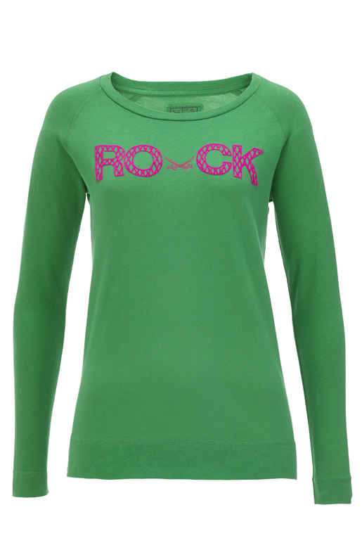 Damen Longsleeve ROCK , green, M