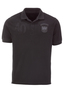 Herren Poloshirt Tone-in-Tone , black, XL