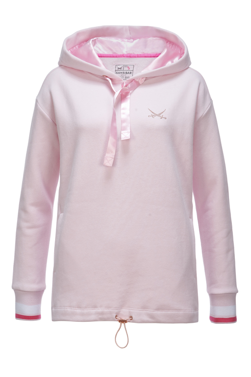 "Damen Hoody ""Sansibar Wellness"" , light rose, S"