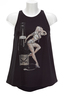 Damen Top PinUp Marilyn , black, S