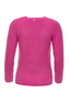 Damen Cashmere Pullover Rippe , pink, XS
