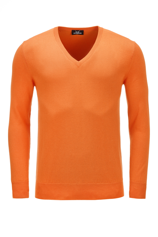 Herren Pullover Classic , Orange, XL