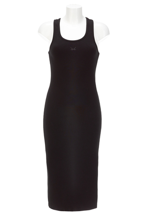 Damen Kleid Rippe , black, XL