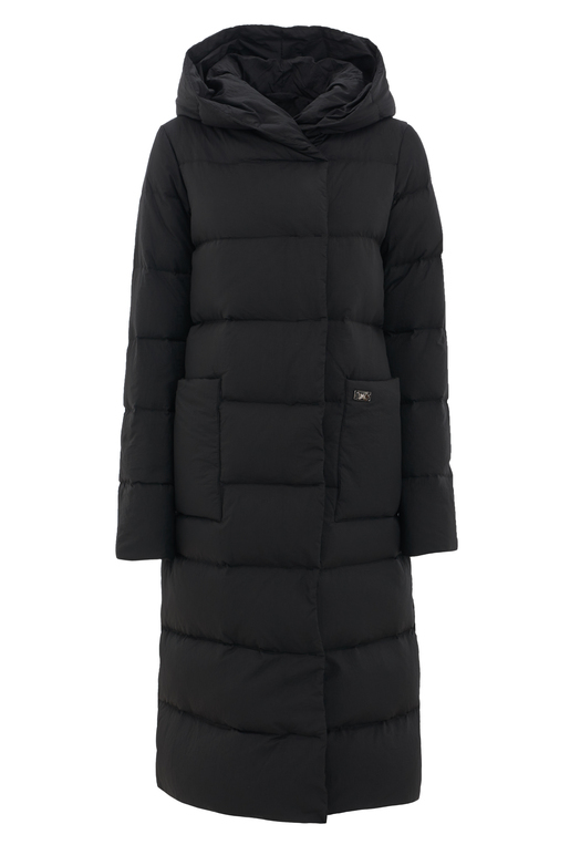 Damen Daunenmantel , black, XL