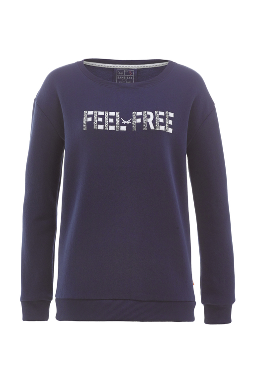 Damen Sweater FEEL FREE , navy, XXS