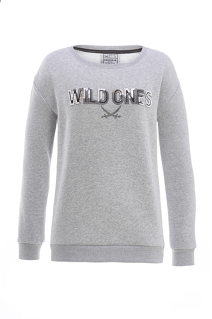 Damen Sweater WILD ONES , silvermelange, XXS