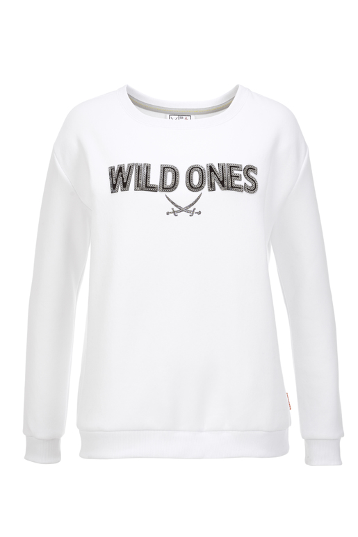 Damen Sweater WILD ONES , white, XXXL
