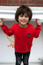 Boys Sweater Logo , navy, 104/110