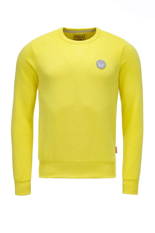Herren Sweater Logo , yellow, XS