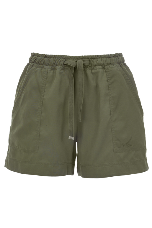 Damen Shorts Tencel , olive, M