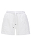 Damen Shorts Leinen , white, XXS
