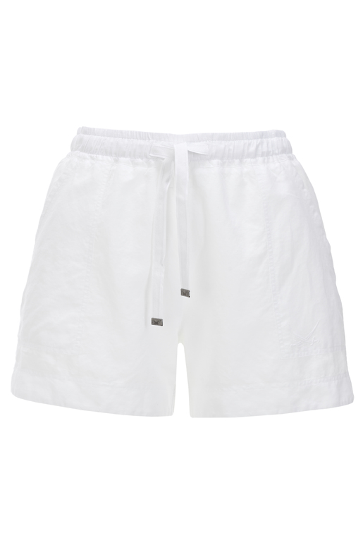 Damen Shorts Leinen , white, XS