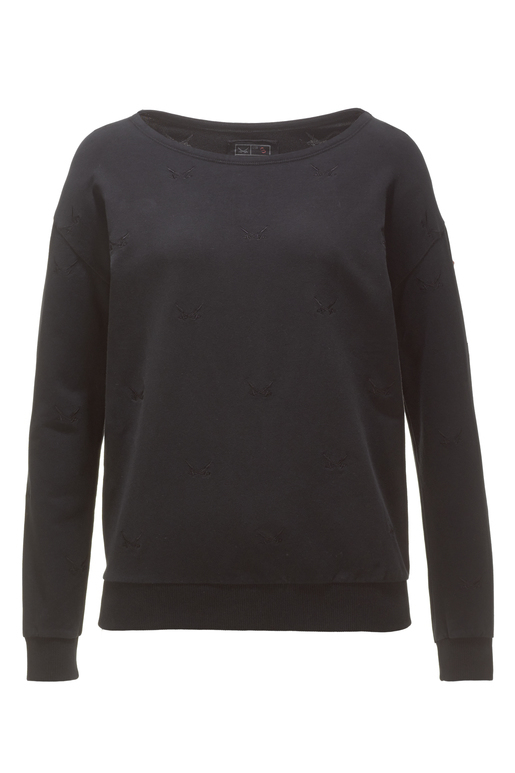 "Damen Sweater ""ALL OVER SWORDS"" , black, L"