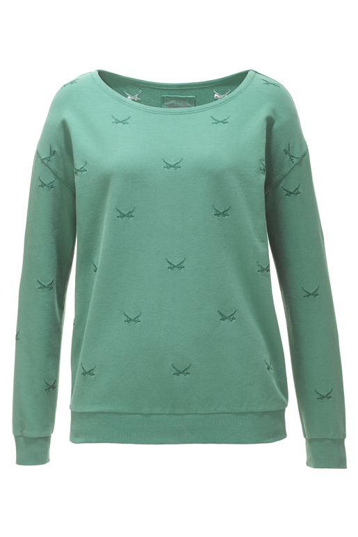 "Damen Sweater ""ALL OVER SWORDS"" , green, XXL"