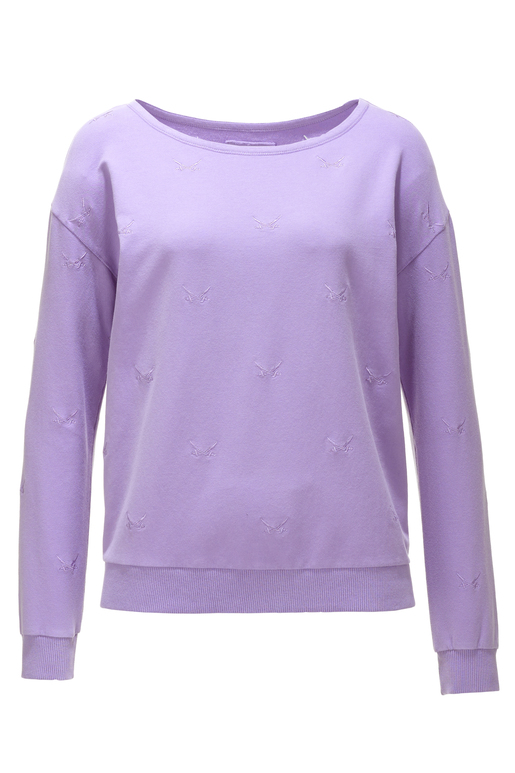"Damen Sweater ""ALL OVER SWORDS"" , lila, XXS"