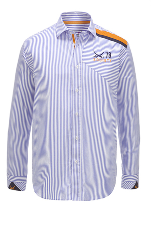 Herren Hemd SOCIETY , white/ light blue, XXXXL