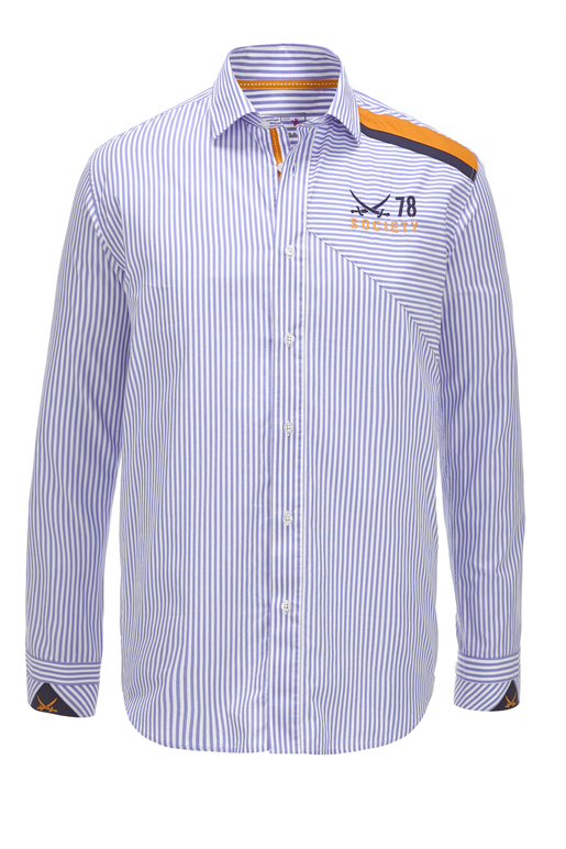 Herren Hemd SOCIETY , white/ light blue, S