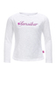 Girls Longsleeve FLORA , white, 128/134