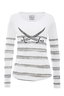 Damen Longsleeve STRIPES , weiss/grey, XL