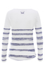 Damen Longsleeve STRIPES , white/ blue, XXS