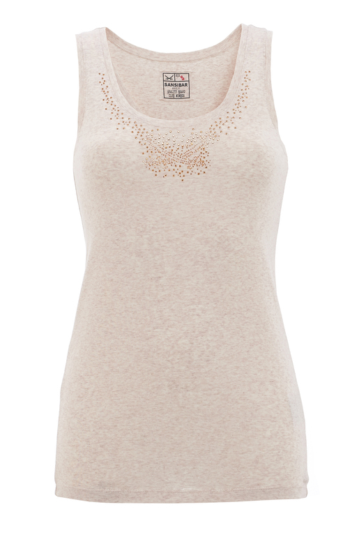 Damen Top STRASS , beigemelange, XS