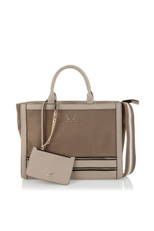 SB-1279-037 Shopper Bag , one size, TAUPE