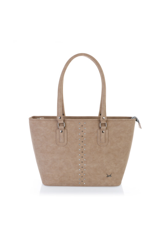 SB-1323-037 Shopper Bag , one size, TAUPE
