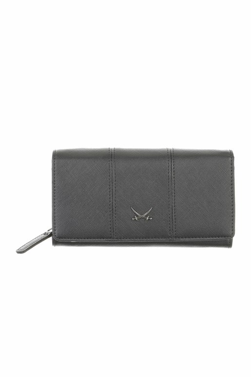 SB-1338-001 Wallet Flap L , one size, BLACK